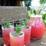 Frisch fruchtige Rhabarber Minz Limonade
