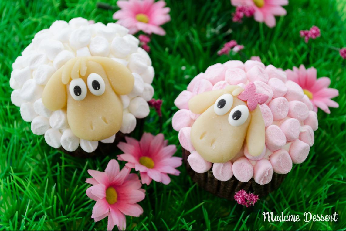Osterschaf Agathe – Cupcakes im Marshmallowpelz | Madame Dessert