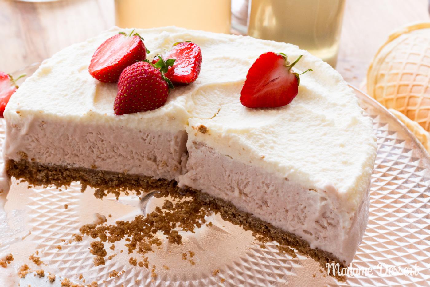 Erdbeereistorte | Madame Dessert