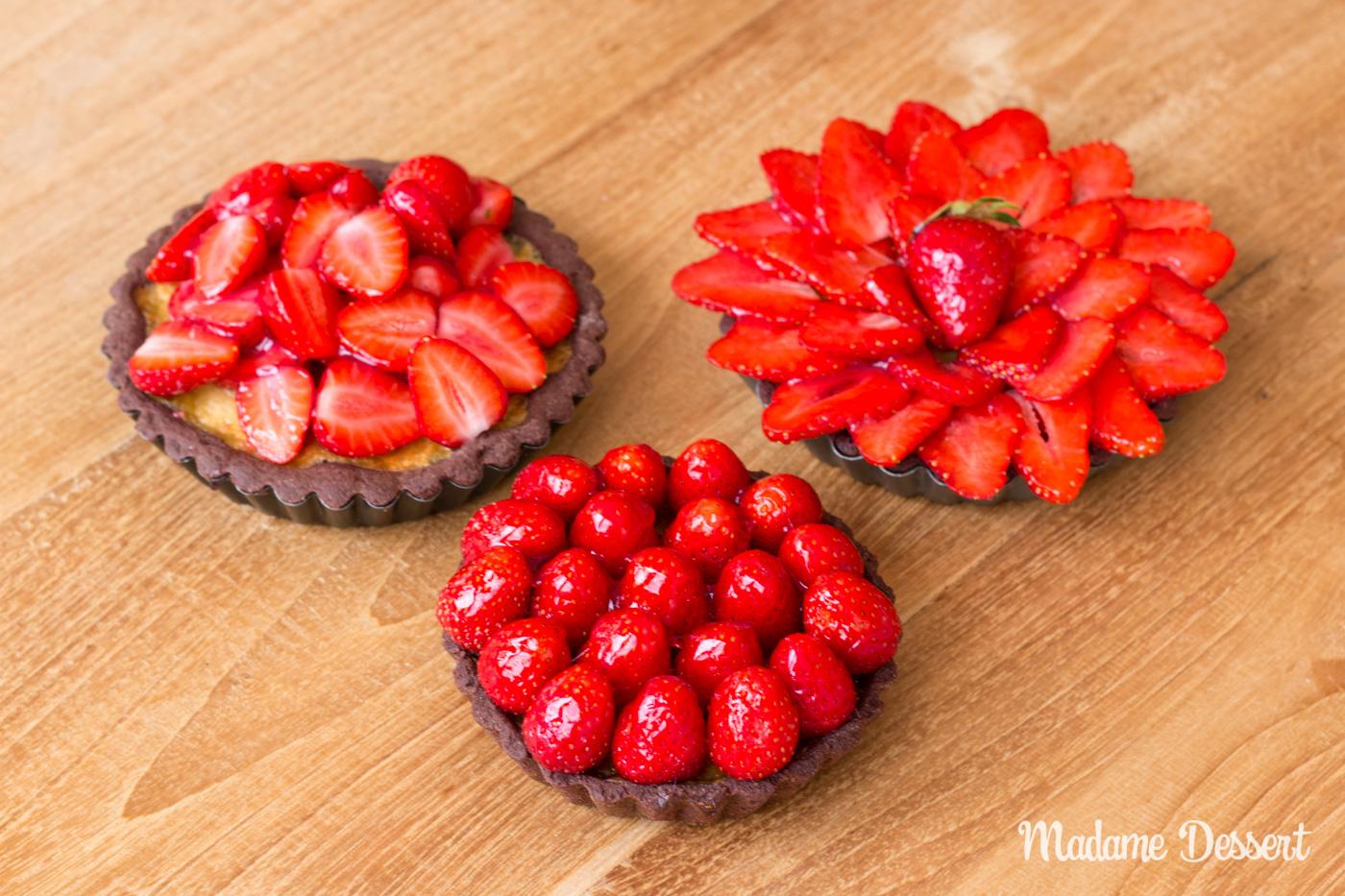 Erdbeerschokoladentarte | Madame Dessert