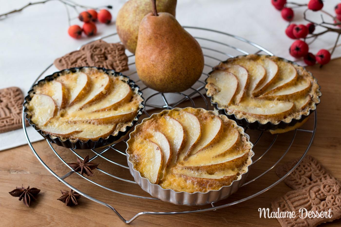 Gebrannte Birnentarte mit Spekulatiusboden | Madame Dessert