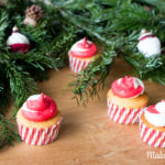 Christmas Cupcakes mit Orangen Frosting