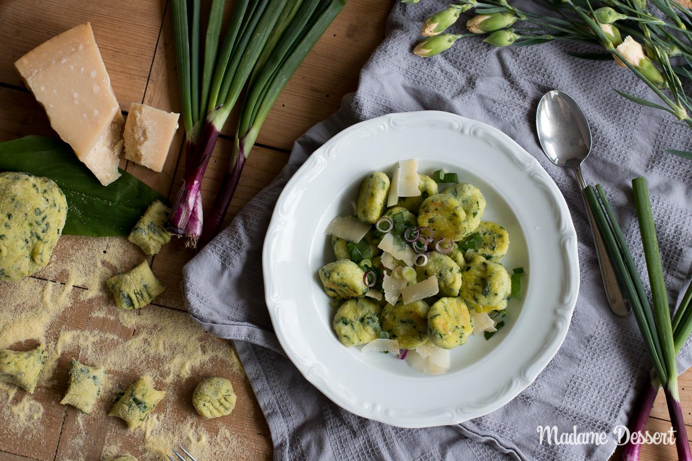 Bärlauchgnocchi mit Parmesan | Madame Dessert