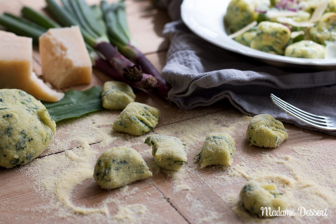 Bärlauchgnocci mit Parmesan | Madame Dessert