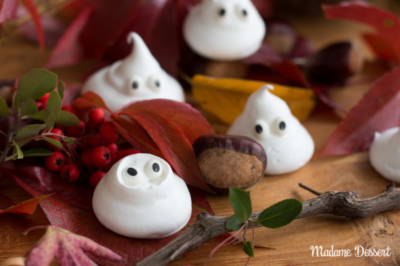 Last Minuten Halloween Rezept |Baiser Gespenster | Madame Dessert