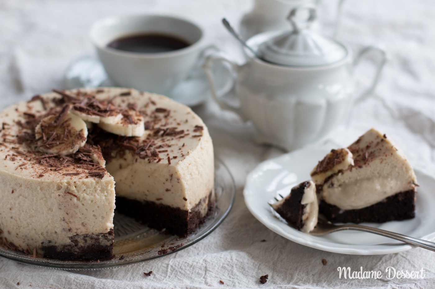 Banana Chocolate Cheesecake | Madame Dessert
