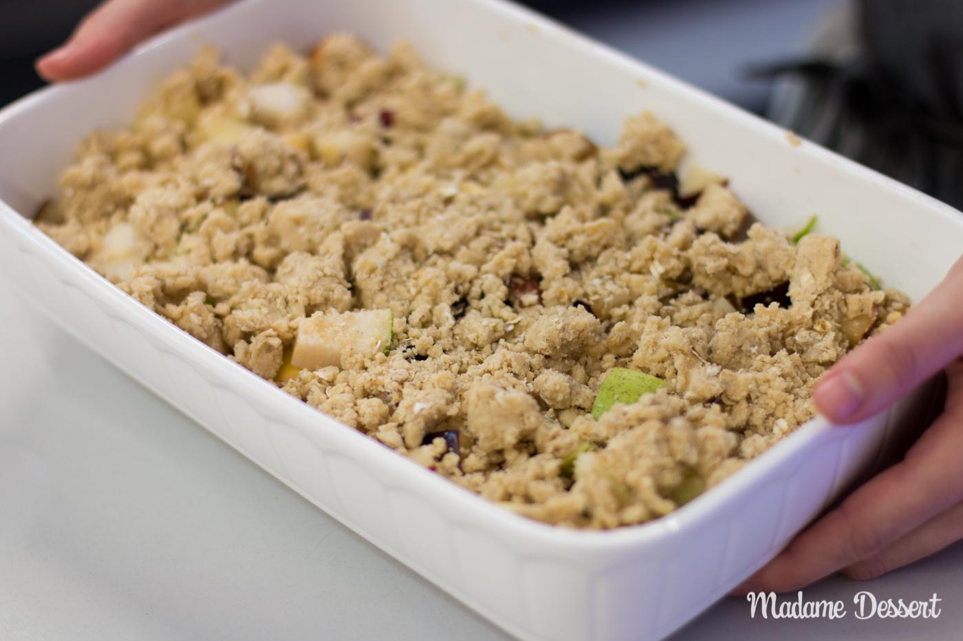 Livekochen auf der Consumenta & Pflaumen Crumble | Madame Dessert-0841