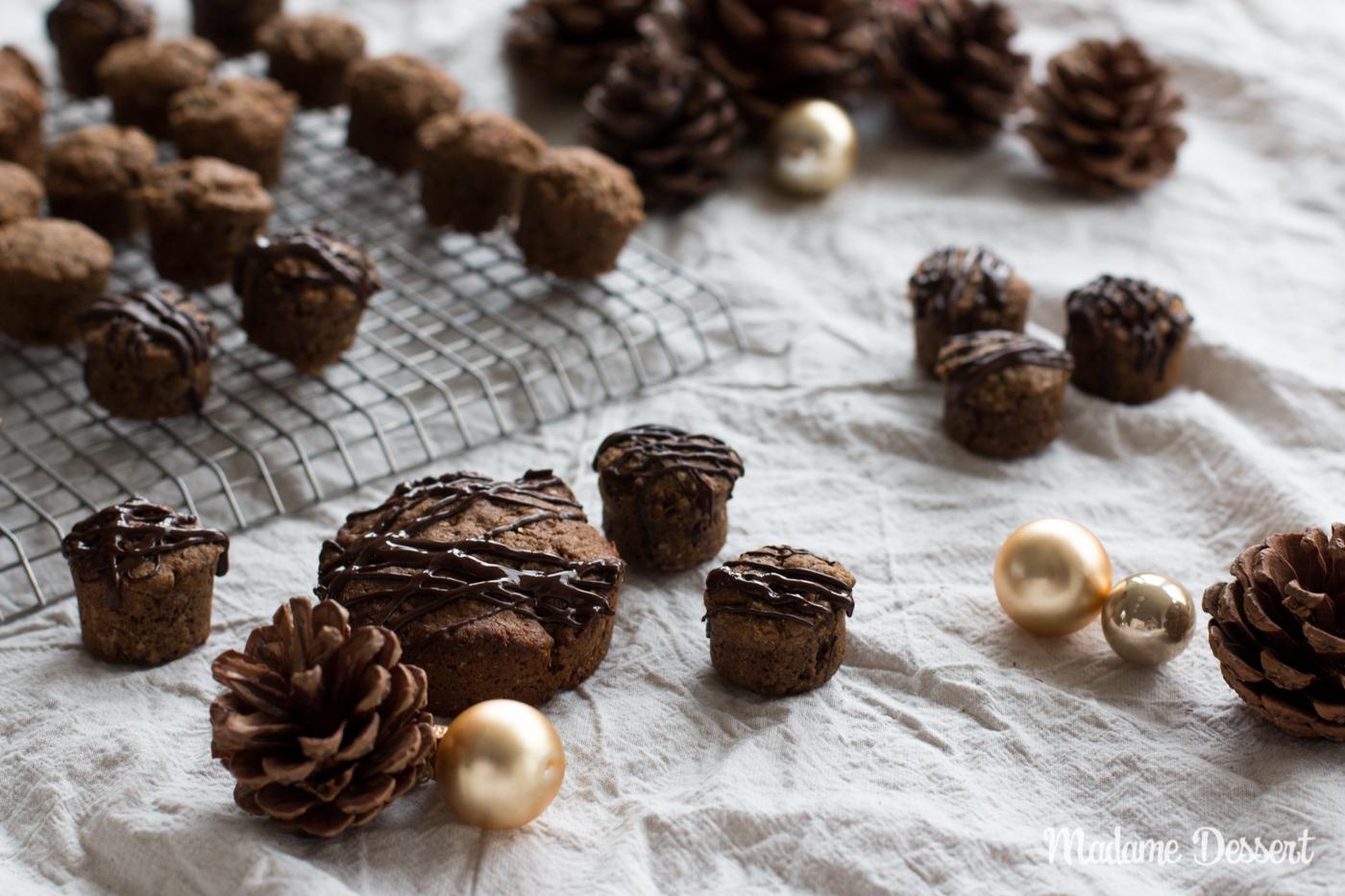 Vegane Lebkuchen mit Chia & Zucchini | Madame Dessert