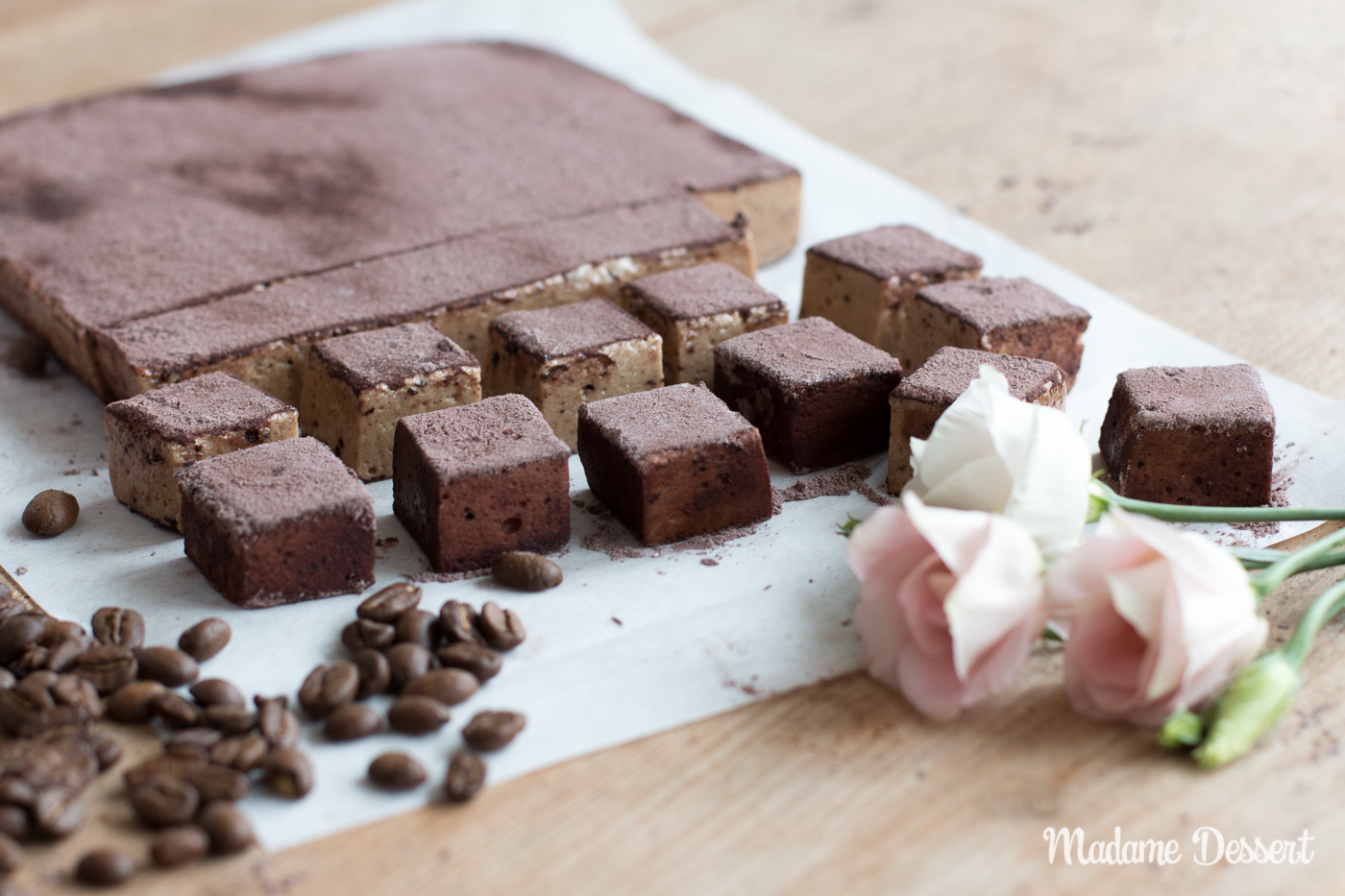 Vegane Espresso Schoko Marshmallows | chocolate Marshmallows | Madame Dessert