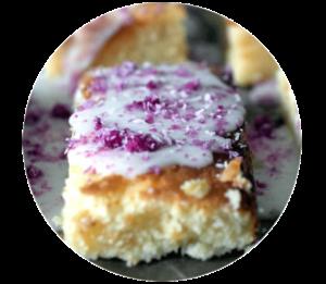 Zitronenkuchen mit rosaroten Kokosraspeln | Sweet 30th - Geburtstag im Schlaraffenland |Madame Dessert