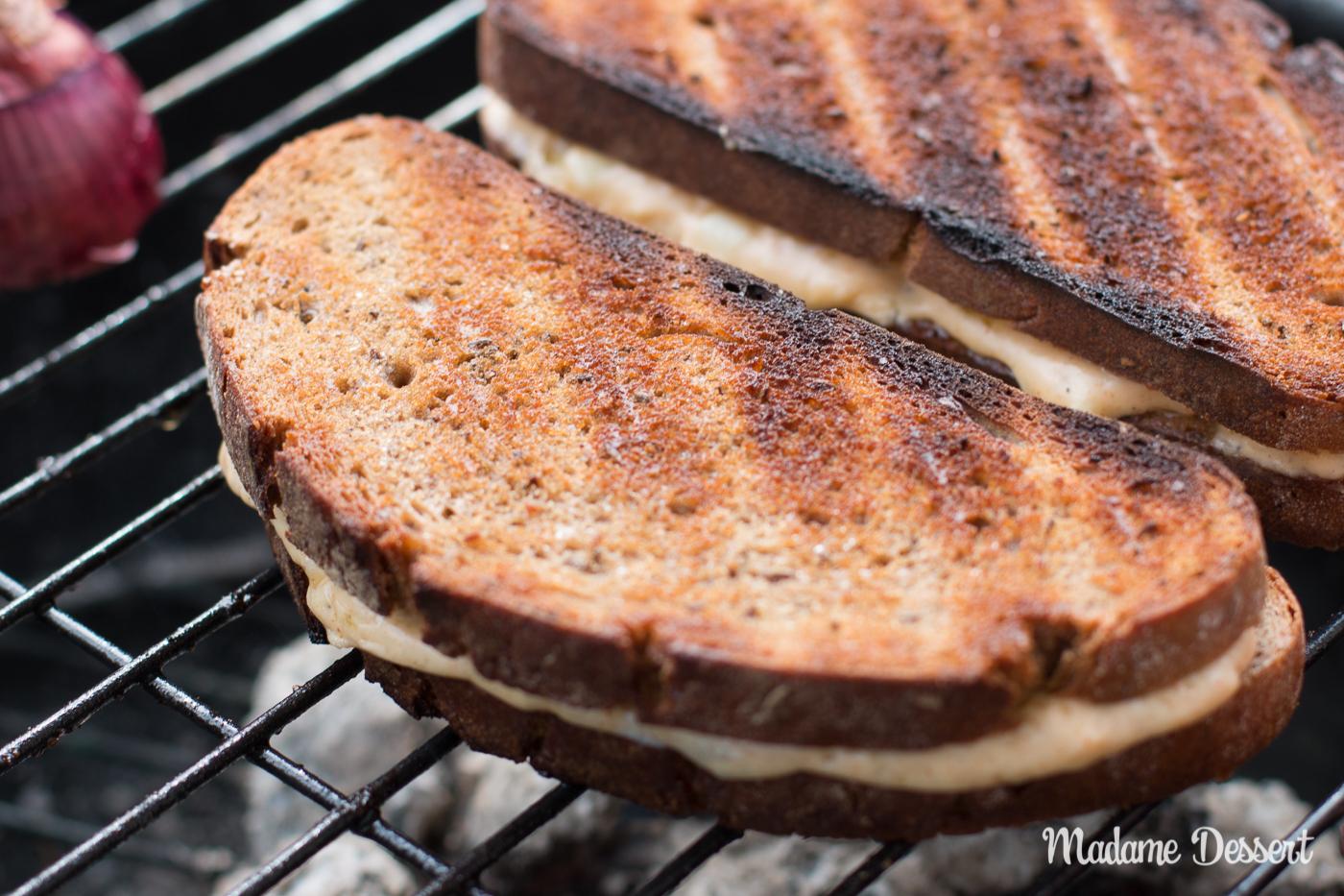 Bavarian Grilled Cheese Sandwich - Gerupfter vom Grill | Madame Dessert