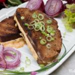 Bavarian Grilled Cheese Sandwich – Gerupfter vom Grill