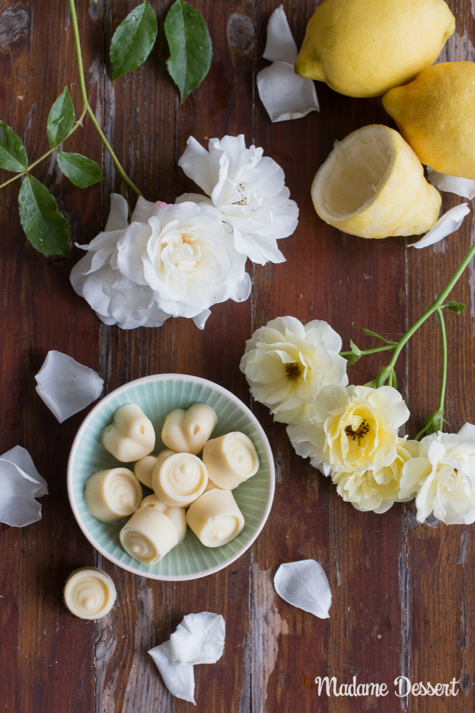 Selbstgemacht Zitronen-Buttermilch-Eispralinen | Madame Dessert