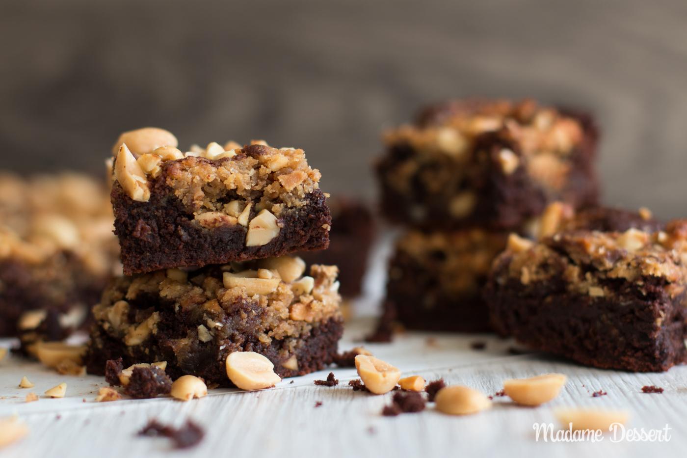 Peanut Butter Brownies | Madame Dessert