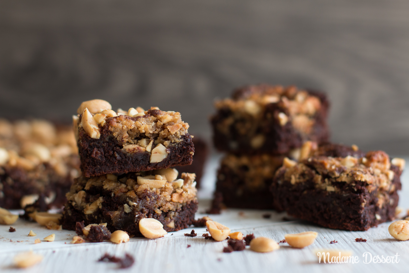 Peanut Butter Brownies | Madame Dessert
