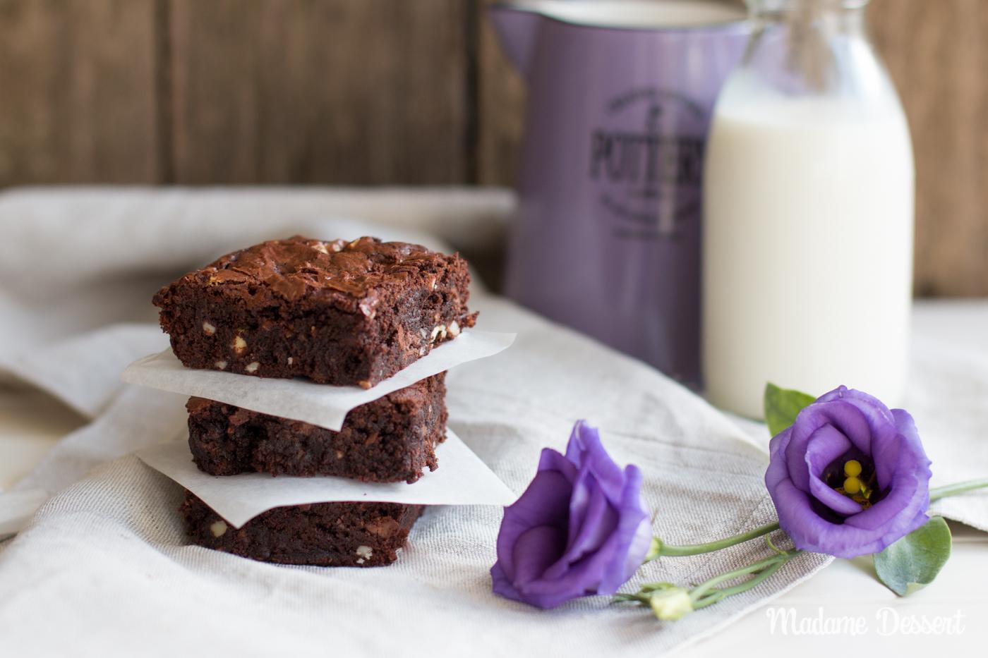 Triple Chocolate Brownies | Madame Dessert