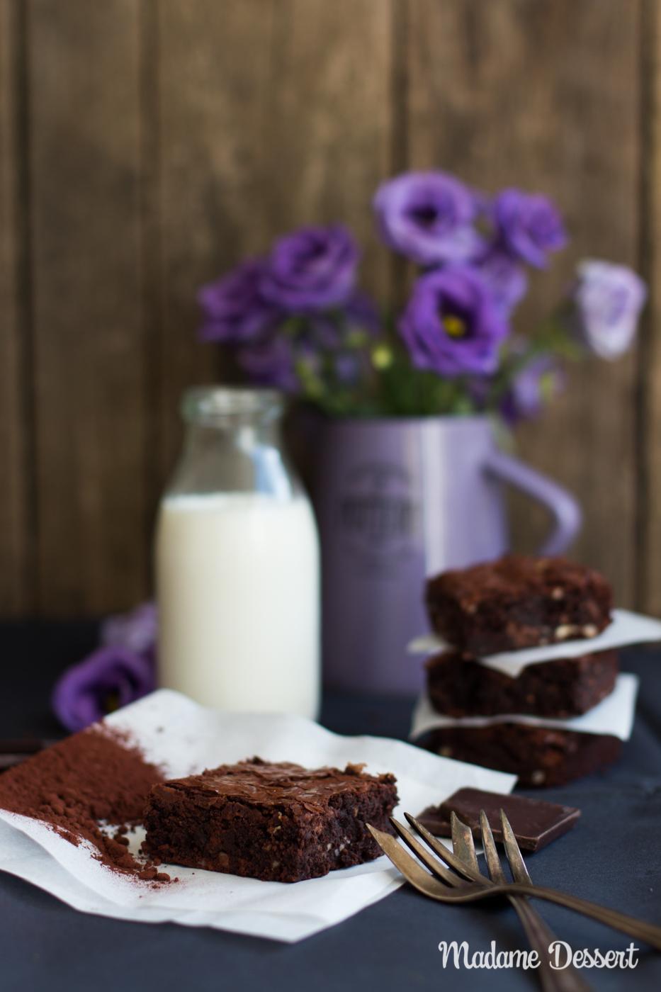 Triple Chocolate Brownies   Madame Dessert