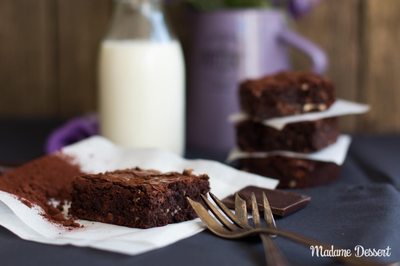 Triple Chocolate Brownie   Madame Dessert