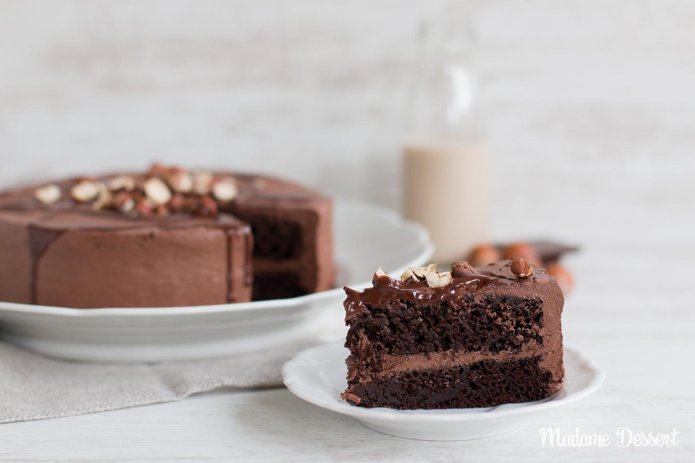 Vegane Schokoladentorte mit Haselnüssen & geröstetem Kakao   Madame Dessert