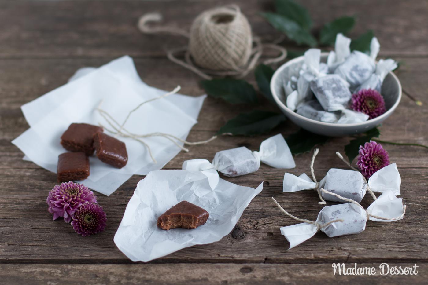 Schokoladen-Karamell-Bonbons mit Fleur de Sel   Madame Dessert