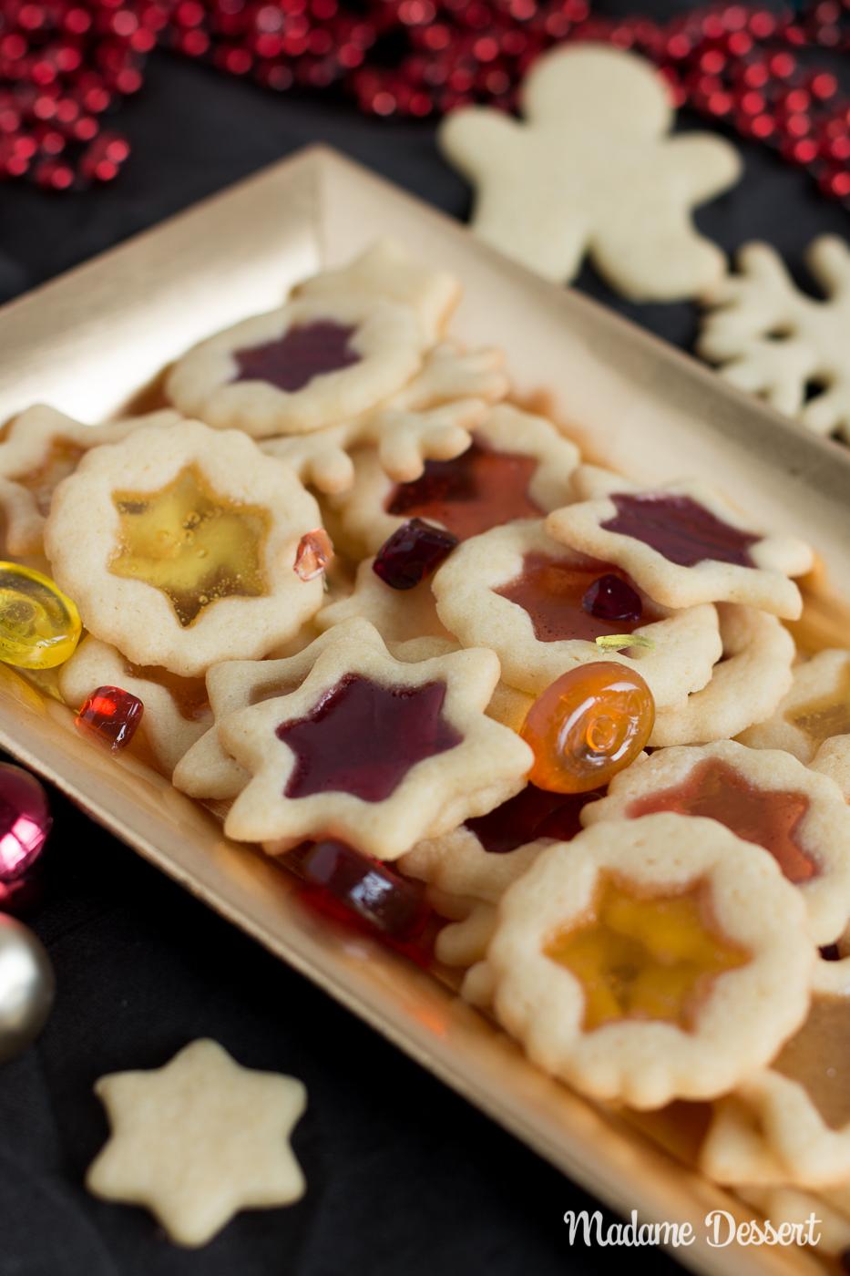 Buntglas Plätzchen | Madame Dessert