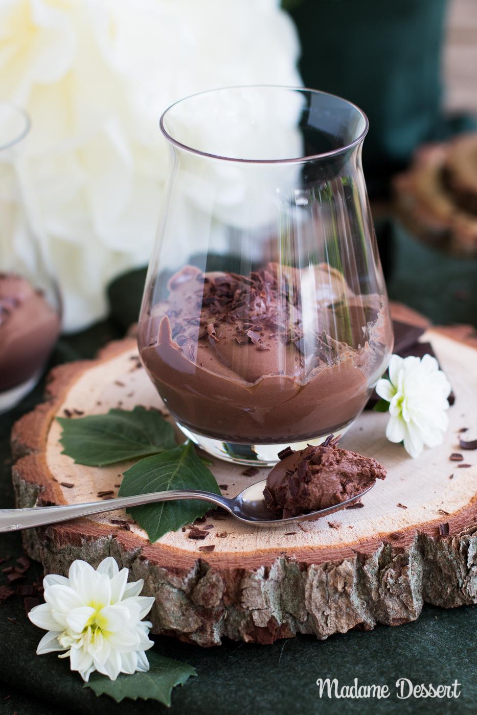 Vegane Schoko Mousse aus Seidentofu | Madame Dessert