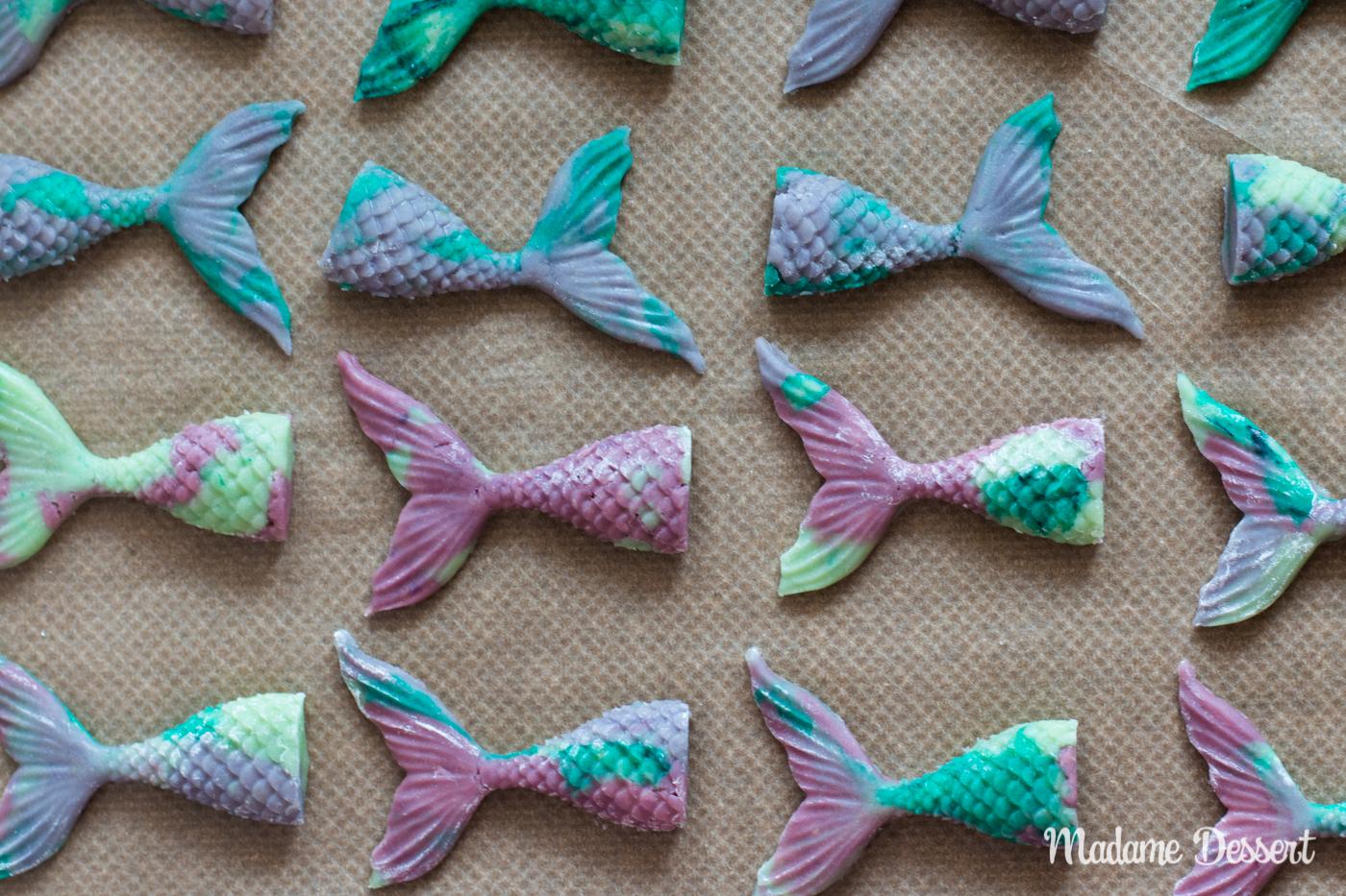 Rezept für 3D Meerjungfrauen Kekse   Madame Dessert