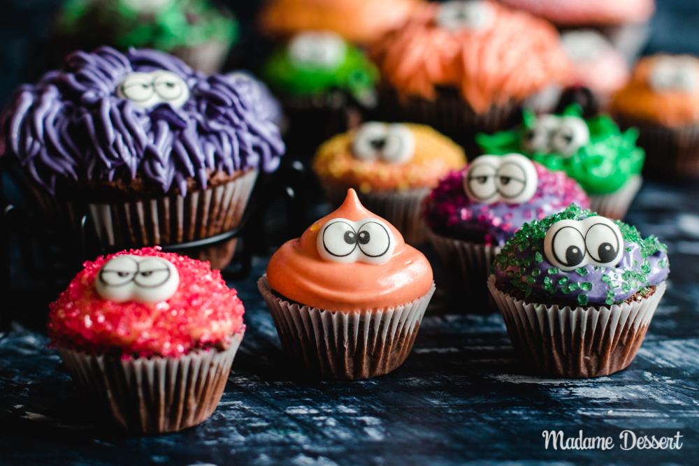 Kinderleichter Monster Cupcakes für Halloween | Madame Dessert