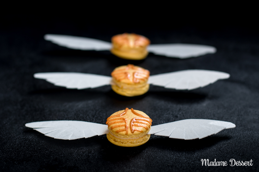 Harry Potter Macarons Goldener Schnatz | Madame Dessert