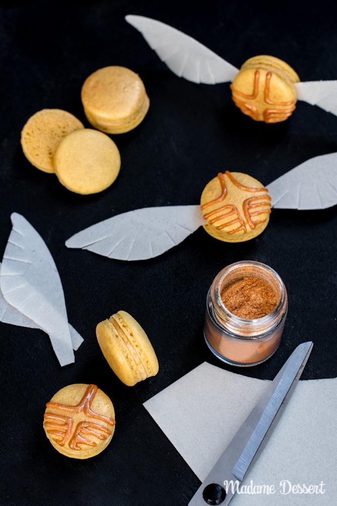Harry Potter Macarons Goldener Schnatz   Madame Dessert