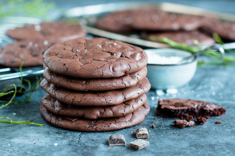Saftige glutenfreie Schoko Cookies ohne Mehl